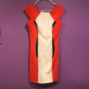 Dresses & Skirts - Coral,Black and white tight form fitting dress